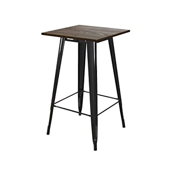 Astonishing Dhp Dz95144 Elie Bar Table Rustic Design Black Andrewgaddart Wooden Chair Designs For Living Room Andrewgaddartcom
