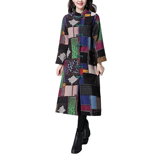 Zhuhaitf Moda para Mujer Cotton Linen A-Line Double Long Coats Designer Outerwear Women Coats and Ja...