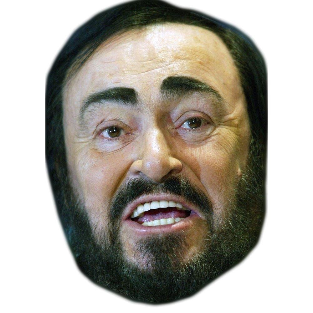 facce di cartone Pavarotti Maschere di persone famose