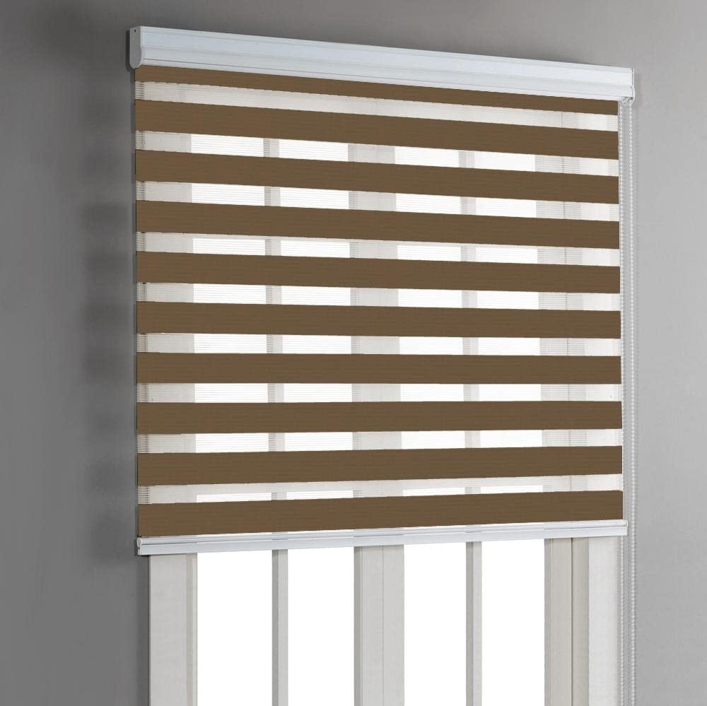Linen Depot Direct 22347 N/&D Taupe 44 x 84 Night /& Day Roller Blind 44 Wide x 84 Long