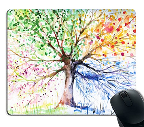 Smooffly Four Seasons Spring Tree of Life Mouse Pad ()