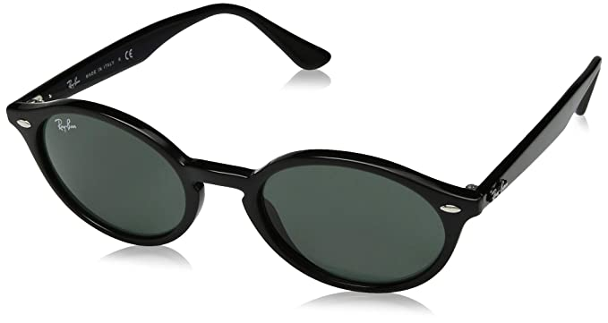 Amazon.com: Ray-Ban RB4315 Oval Sunglasses, Black/Green, 51 ...