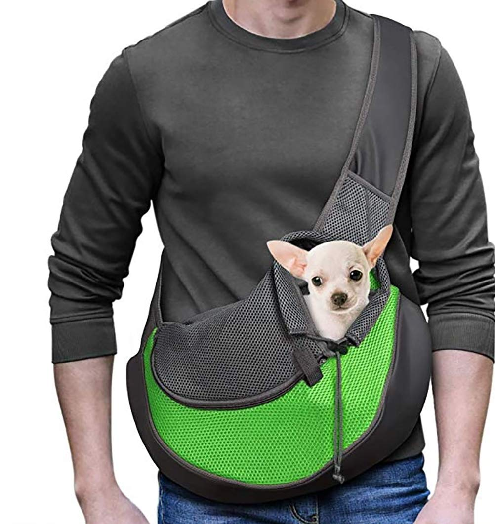 Green Small Green Small Dog Carrier Slings, Small Animal Carriers,One-Shoulder pet Bag,Portable Tote Shoulder Bag,Outdoor Travel Small Dogs Cats Puppies Backpack,Breathable Cotton Shoulder Bag
