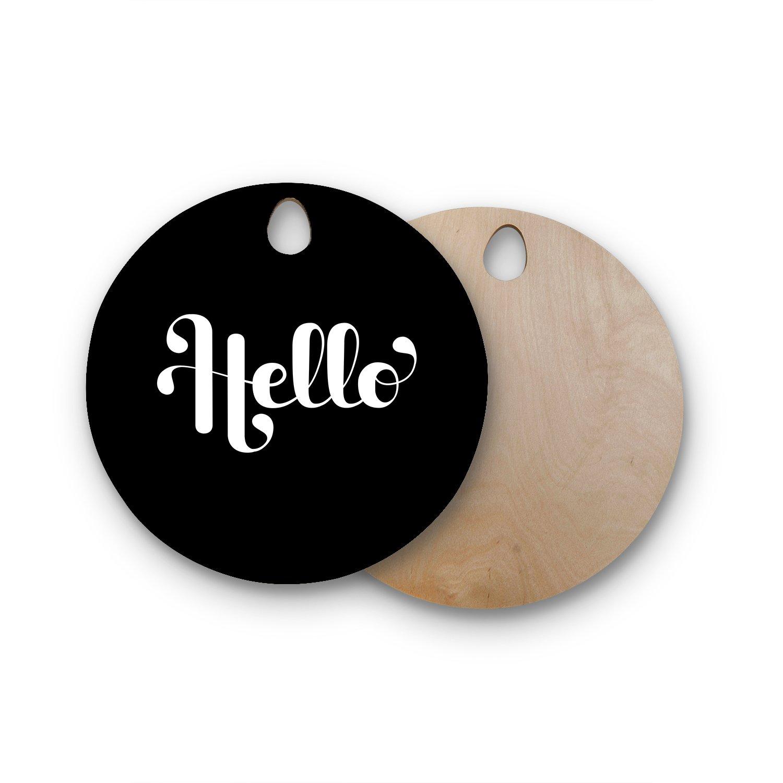 Kess InHouse RT1059AWB02 Wooden Cutting Board Black White