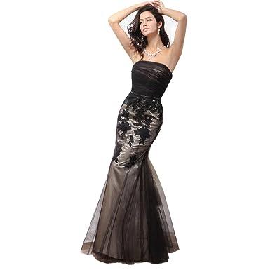 Black Mermaid Trumpet Gown
