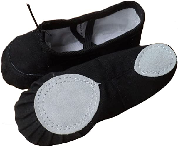 Womens Ladys Girls Adult Canvas Ballet/' Dance Shoes Slippers Pointe Gymnastics