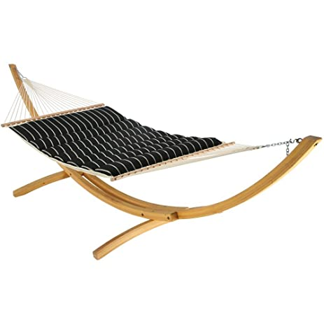 hatteras hammocks pillowtop hammock classic black stripe dlxptqob amazon     hatteras hammocks pillowtop hammock classic black      rh   amazon