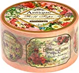 [PINK-523] antique L size (gum tape size) Heart art collection masking tape 50mm x 15m