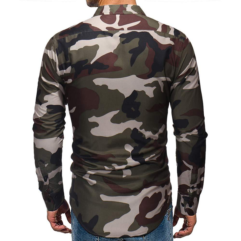 Manga Larga Hombre, Beladla Camisa De Blusa Estampada para Hombre ...