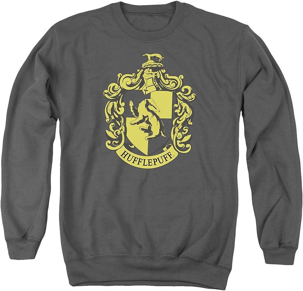 Harry Potter Men's Hufflepuff Crest Sweatshirt Charcoal