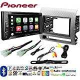Pioneer AVH-1400NEX Double DIN Apple CarPlay In-Dash w/Touchscreen Toyota Tacoma Double Din Car Stereo Radio Installation Dash Mount Kit Harrness + CAM-600 License Plate Rear View Camera
