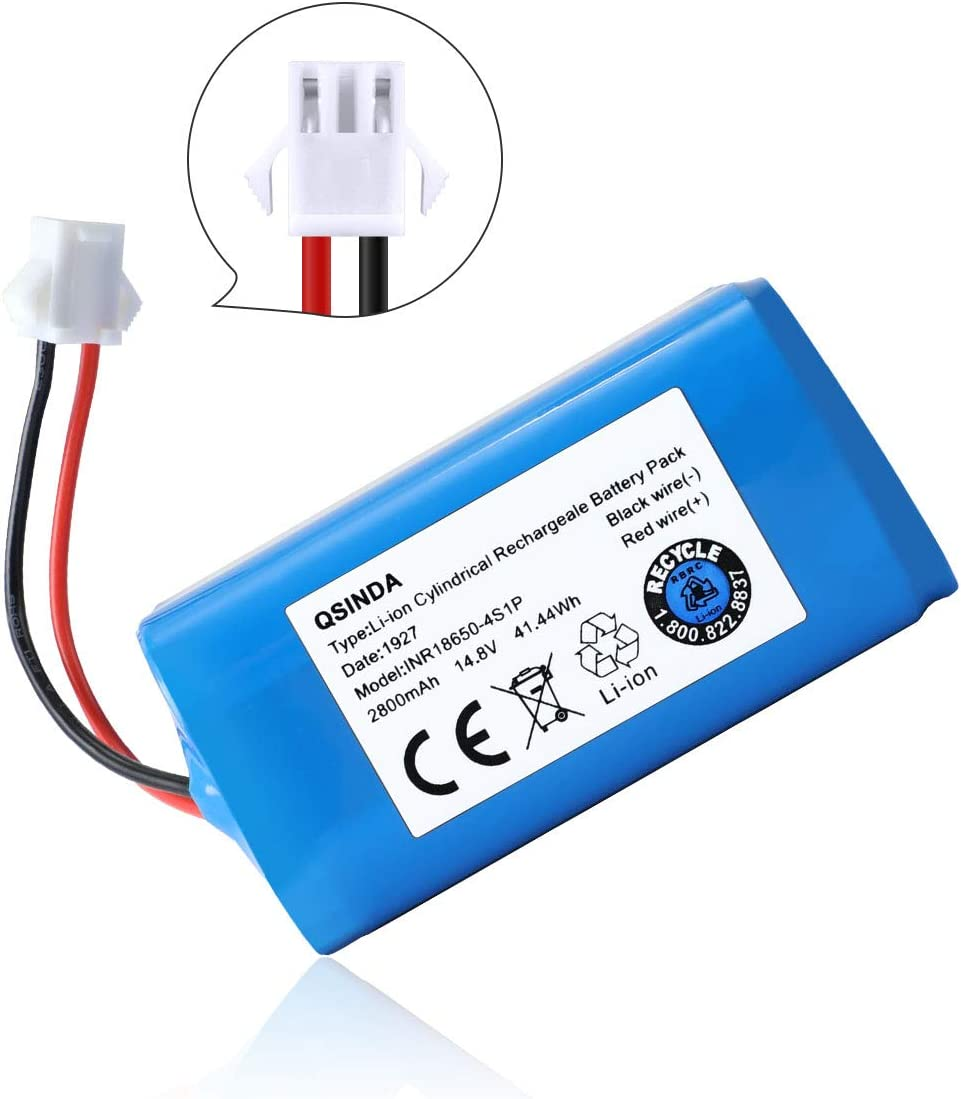 LANMU Replacement Battery Compatible with Deebot N79S, 79, DN622, Eufy RoboVac 11, 11S, 30, 30C MAX, 15T, 15C, 15C MAX, 12, 35C Vacuum Cleaner (14.8V, 2800 mAh)