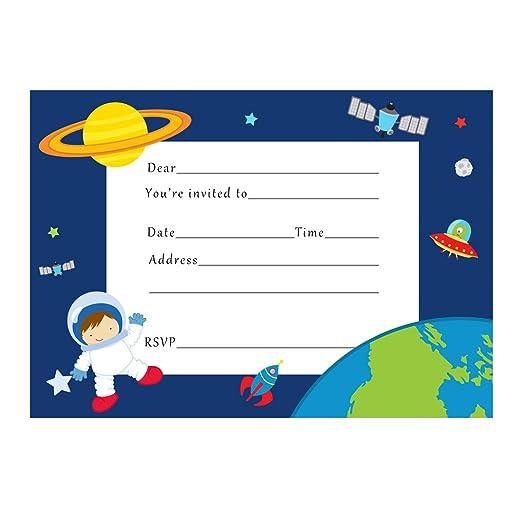 30 invitaciones de cumpleaños para niños astronauta relleno ...