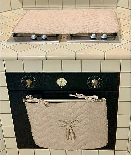 ROMBO BLU Set cubre hornillo y cubrehorno, encimera cocina 5 ...