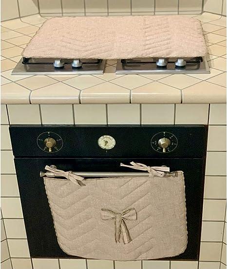 ROMBO BLU Set cubre hornillo y cubrehorno, encimera cocina ...