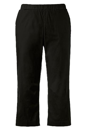 17eedf03e8120 Ulla Popken Women s Plus Size Stretch Twill Capri Pants Black 16 704239  10-42