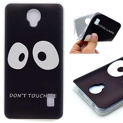 Funda Huawei Y635 Patrón Impresión Dont Touch Me Negro ...