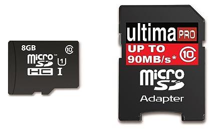 Memzi - Tarjeta de memoria flash (8 GB, clase 10, 90 MB/s ...