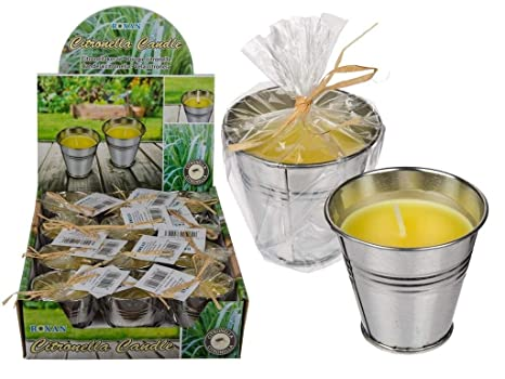 4 Stuck Citronella Kerzen Im Zink Topf Outdoor Anti Mucken Kerze