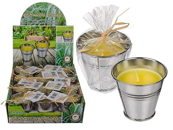 4 Stück Citronella Kerzen im Zink-Topf Outdoor Anti Mücken Kerze