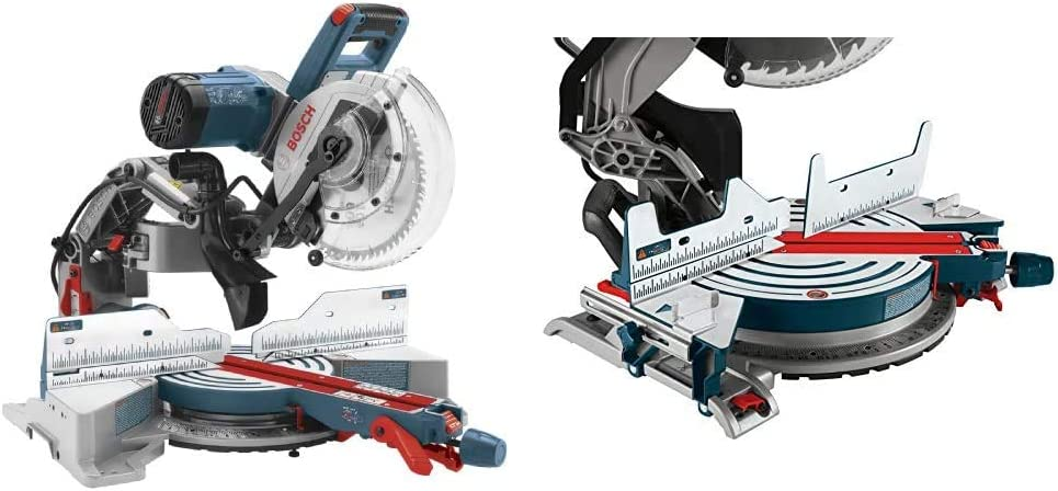 Bosch CM10GD Compact Miter Saw & MS1233 Crown Stop Kit for Bosch Miter Saws, Includes Mounting Knobs and Hardware