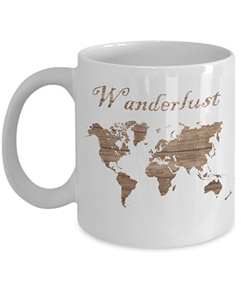 Amazon wanderlust unique coffee cup cool wood grain world map wanderlust unique coffee cup cool wood grain world map travel mug gumiabroncs Choice Image