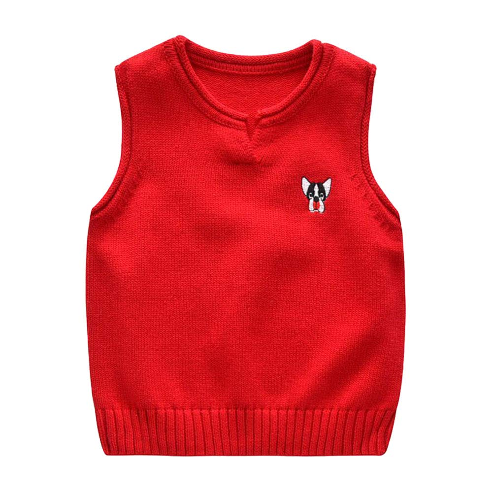 Onlyso Toddler Little Boys Cotton Knitted Pullover Sweaters Vest
