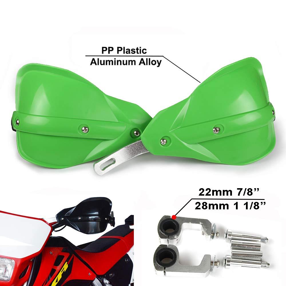 Green Handguards 22mm and 28mm Hand Guards Brush Bar For Motorcycle Dirt Bike Motocross Kawasaki KX65 KX85 KX125 KX250 KX500