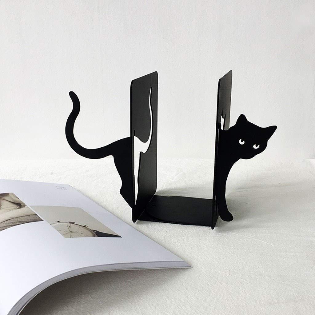 Simpatici fermalibri for libri for gatti Cat Bookends Terminali for libri in metallo Scaffali for libri in ferro for forniture di cancelleria for ufficio da tavolo Fermalibri