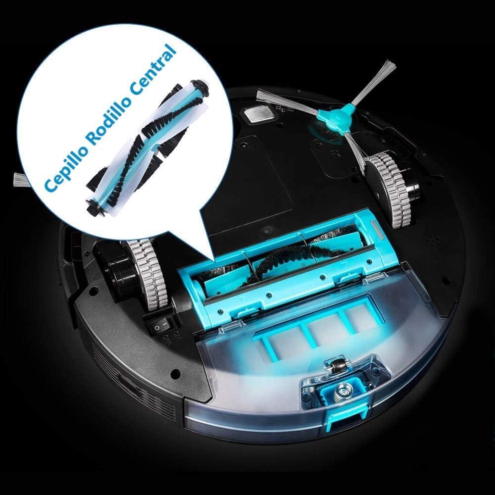 Cepillos Laterales Filtros EPA y Mopas Aspiradora Robot DOKKOO Accesorios Recambios para Cecotec Conga Serie 3490 3290 Accesorios Cepillo Central