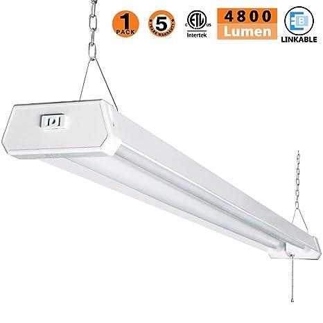 Amazoncom Led Shop Light For Garages4ft 4800lm42w 5000k Daylight