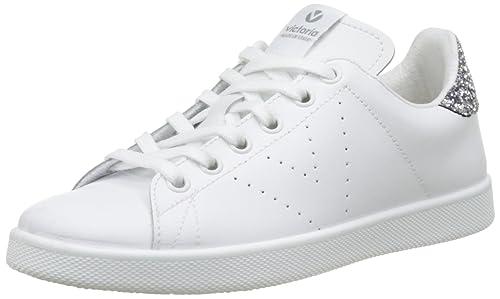 Victoria Deportivo Basket Piel, Zapatillas para Mujer, Gris (Antracita), 36 EU