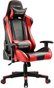 GTRACING Height Adjustable Swivel Recliner Gaming Chair