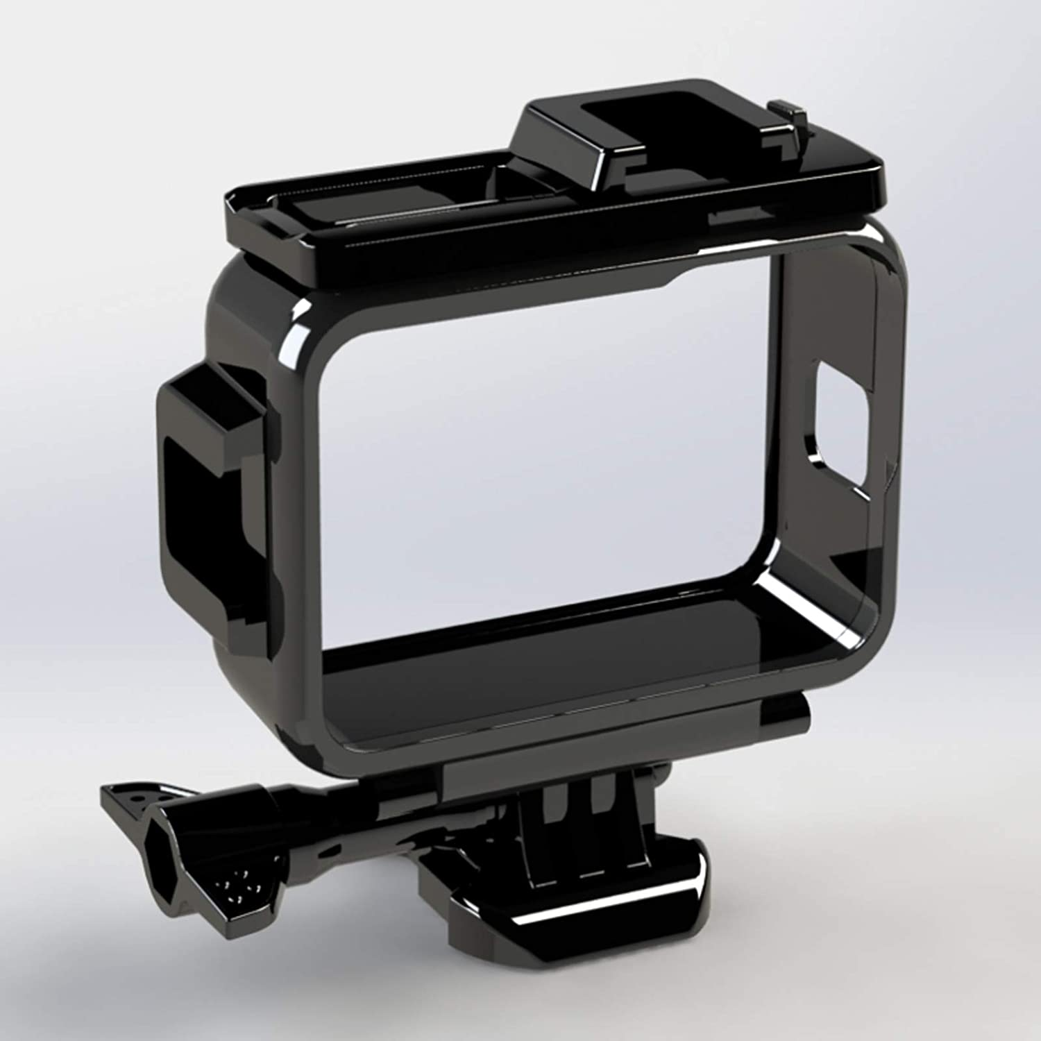 Case for GoPro Hero 9 Frame Housing with Cold Shoe Mount, Protective Shell Cage Mount Accessories for Go Pro Hero 9 Action Cameras (Black)