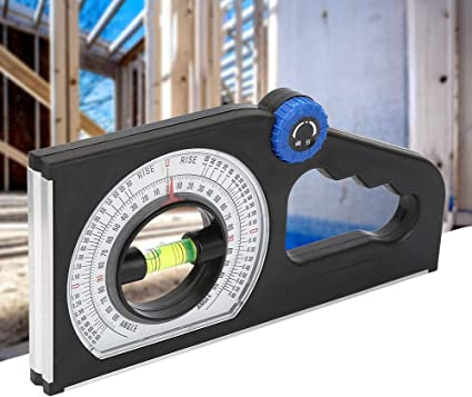 Multifunctional 0-180 Degree Slope Measuring Scale Without Magnetic ABS for Measuring Supplies Measuring Tools Slope Level Meter