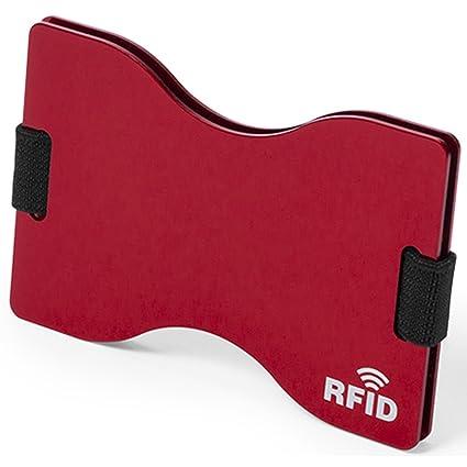 Tarjetero RFID Metálico de Aluminio B2action. Resistente y Cómodo. Bloqueo 100% de RFID
