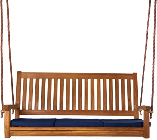 Amazon Com All Things Cedar Ts50 B Teak Porch Swing With