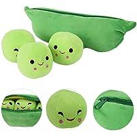 Animal Bean Bag Peas-in-a-Pod Toys Plush Bean Toy Stuffed Plant Pillow Doll Toys Super Soft Doll Pillow Novelty Design…
