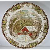 """Johnson Brothers The Friendly Village Chop Plate Round Platter 12 1/4"""""""