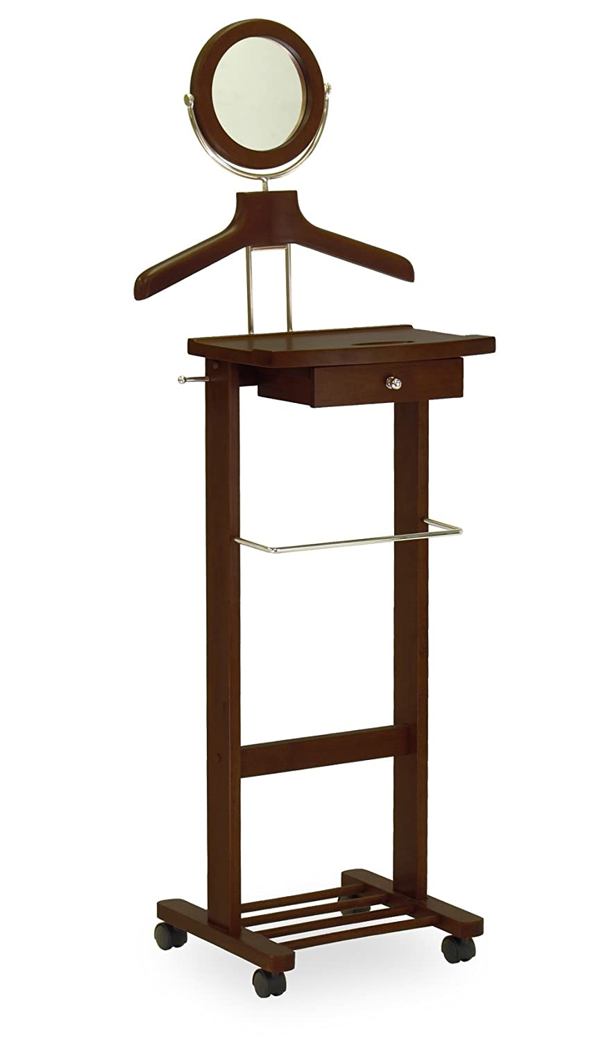 Winsome Wood Valet Stand, Walnut 94155