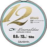 ダイワ(Daiwa) PEライン エメラルダス 12ブレイド 150m 0.6号 13lb マルチカラー