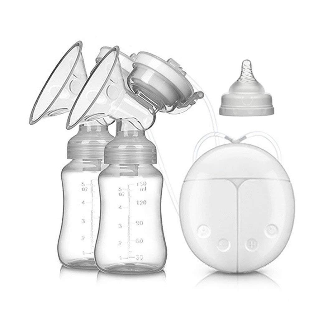 amazon breast pump electric double breastpumps safe milk Baby Formula Dispenser pump electric double breastpumps safe milk storage bottle dual control milk suction and breast massager breast care for breastfeeding white baby