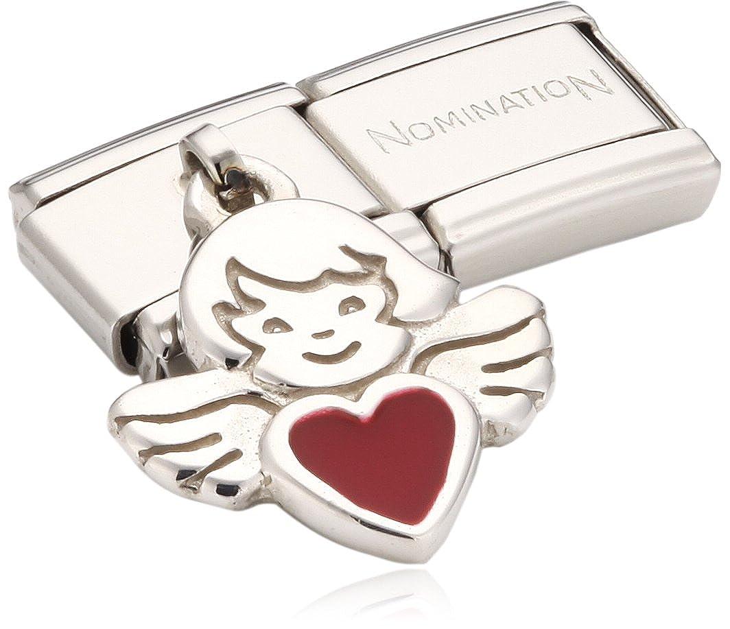 Nomination - 031700/27 - Maillon pour bracelet composable Femme - Coeur et Ange - Acier Inoxydable B004Z8FI82