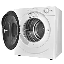 Costway Electric Tumble Dryer - Stainless Steel 27lb. Capacity/3.21 Cu.Ft. w/ Timer Control