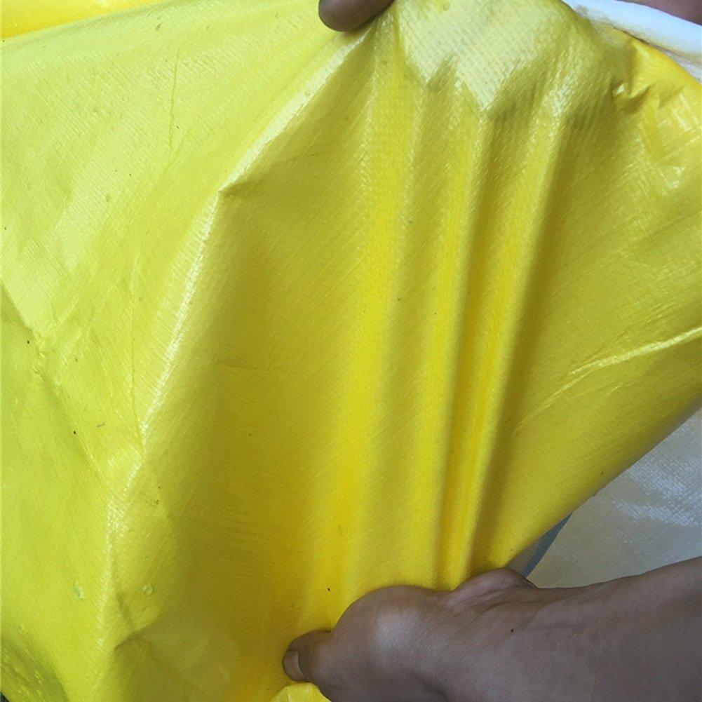 AJZXHE Regenfeste Sonnenschutzplane, LKW-Schutzplane im Freien Schatten staubdicht Winddicht Winddicht Winddicht Hochtemperatur Anti-Aging, gelb -Plane B07GRVK3T8 Abspannseile Ausgezeichnete Leistung bfde58