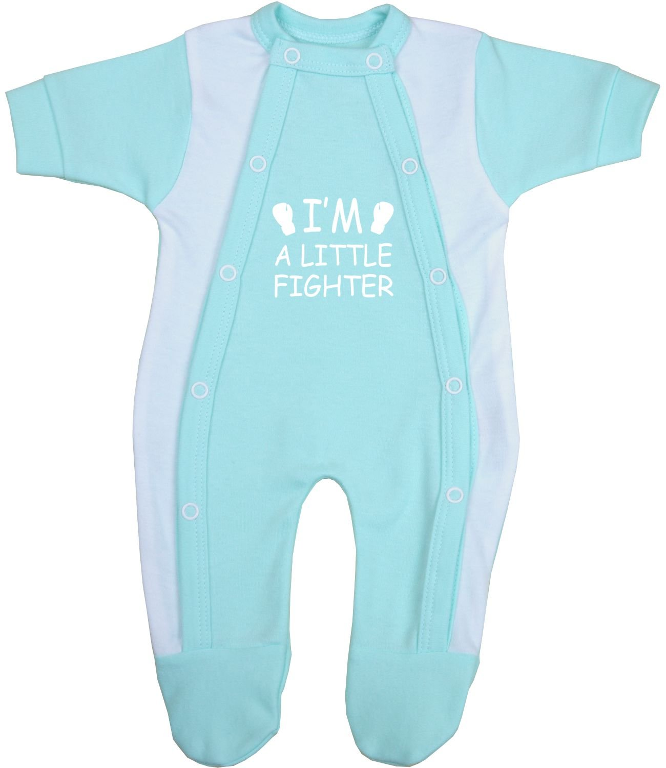 BabyPrem Preemie Baby Footie Sleeper Little Fighter Clothes 1.5 - 7.5lb LB133