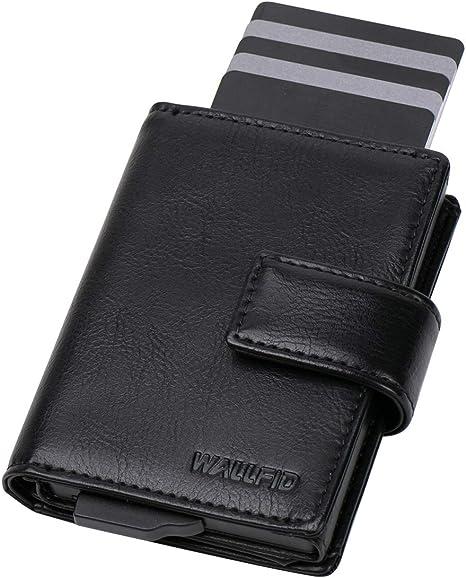 Real Leather ID Credit Card Holder Oyster Wallet Slim Pocket Case Cardholder 14