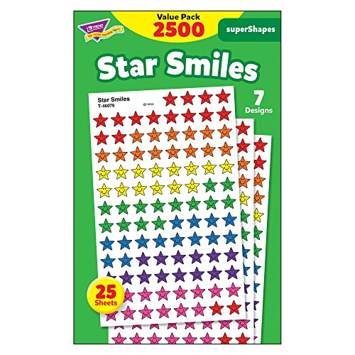 Trend Enterprises Super Spots & Super Shapes Variety Pack, Star Smiles (T-46917)
