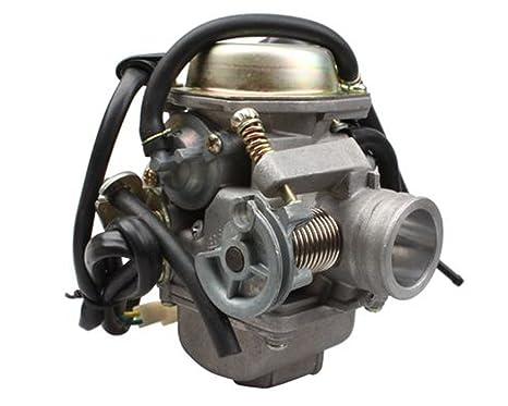 Amazon com: Mx-M PD24 Carburetor for GY6 125 CC 152QMJ 150cc