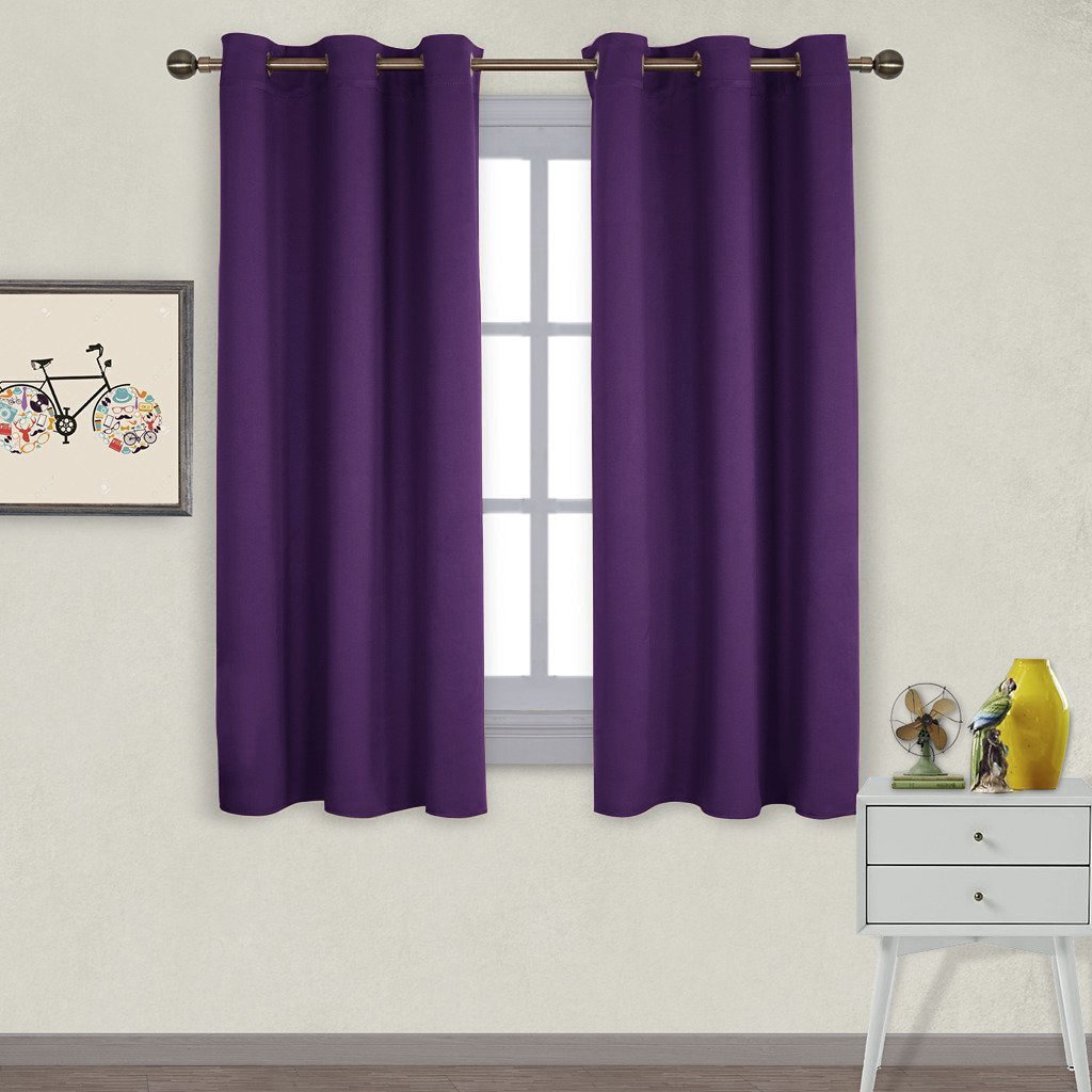 NICETOWN Triple Weave Home Decoration Thermal Insulated Solid Ring Top Blackout Curtains / Drapes